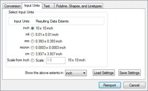DXF DWG Reimport Options